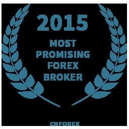 2015 Most promising forex broker award