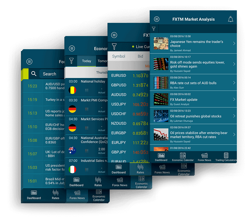 Мобильное приложение FXTM для форекс-трейдеров